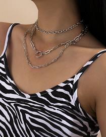 Collar De Cadena De Metal Multicapa