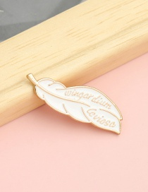 Fashion Golden Feather Letter Brooch