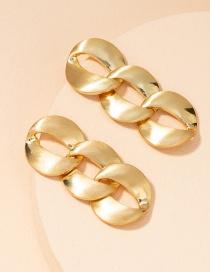 Fashion Matte Metal Chain Earrings