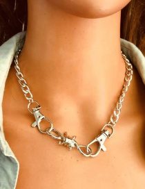 Fashion Silver Alloy Lobster Clasp Chain Necklace