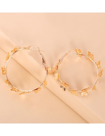 Fashion Golden Metal Round Butterfly Earrings