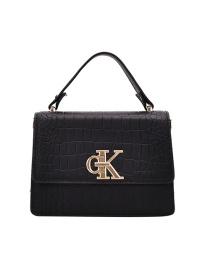 Fashion Black Embossed One-shoulder Portable Messenger Bag