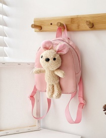 Fashion Bunny Pink Doll Lamb Childrens Backpack