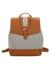 Fashion Light Brown Multi-purpose Diamond Backpack