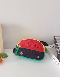 Fashion Red Contrasting Color Nylon Fabric Childrens Car Messenger Bag
