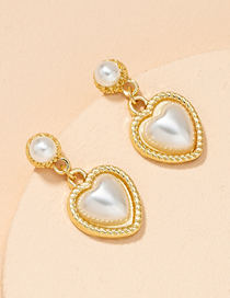Fashion Gold Color Love Pearl Alloy Earrings