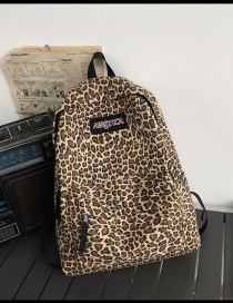 Fashion Yellow Without Pendant Leopard Canvas Monogram Contrast Backpack
