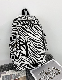 Fashion Fine Lines Without Pendant Cow Print Stitching Contrast Color Backpack