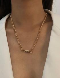 Fashion Gold Color Alloy Geometric Necklace