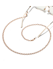 Fashion Gold Color Anti-slip Anti-lost Thick Chain Hollow Eyeglass Chain