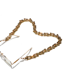 Fashion Gold Color Thick Rectangular Chain Hollow Glasses Chain