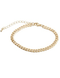 Fashion Thick Chain Bracelet Pig Nose Chain Gold-plated Copper Necklace Bracelet