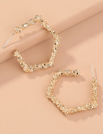 Fashion Gold Color Geometric Shaped Alloy Irregular Earrings