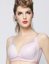 Fashion Yafen Breathable Lace Front Buckle Nursing Bra