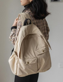 Fashion Off-white Trumpet Canvas Large-capacity Stitching Pocket Backpack