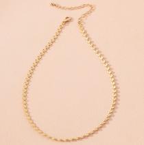 Fashion Round Love Flower Geometric Alloy Necklace