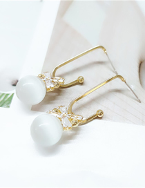 Fashion White Love Pearl Geometric Alloy Earrings
