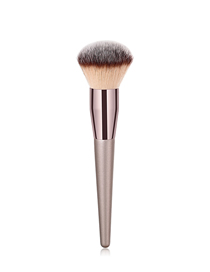 Fashion Champagne Gold Single Wooden Handle Nylon Hair Loose Powder Makeup Brush