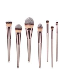 Fashion Champagne Gold Single Wooden Handle Nylon Hair Makeup Brush