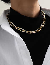 Fashion Necklace Gold Cross Chain Tassel Alloy Necklace Earrings