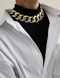 Fashion Necklace Gold Single Layer Tassel Pitted Ccb Chain Link Necklace Earrings