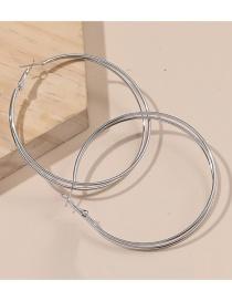 Fashion Silver Round Geometric Alloy Earrings