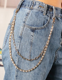 Fashion Golden Chain Alloy Pearl Waist Chain