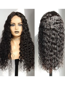 Fashion 26 Inches Front Lace Mid-length Curly Hair Wig