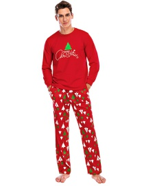 Fashion Dad Navy Christmas Print Long Sleeve Top