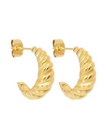 Fashion Gold Color Brass Thread C-shaped Ear Ring