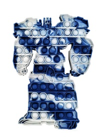Fashion Dark Blue And White Optimus Prime Decompresses And Presses The Toy