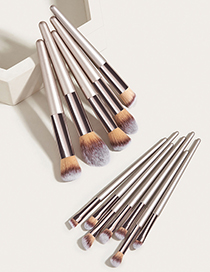 Fashion Champagne Gold Set Of 12 Champagne Gold Makeup Brushes