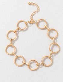Fashion Gold Alloy Ring Splicing Anklet