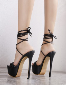 Fashion Black Pointed Zipper Stiletto Heel Ankle Boots