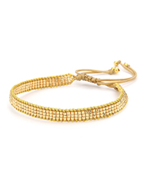 Fashion Beaded Gold Rice Beads Hand-woven Five-pointed Star Beaded Bracelet