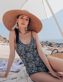 Fashion Printing Triangle Print One-piece Swimsuit