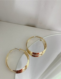 Fashion Gold Color Alloy Geometric Hollow Round Earrings