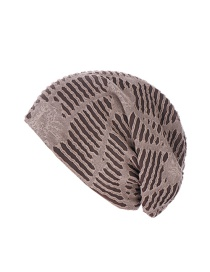 Fashion Khaki Irregular Turban Hat With Folds And Holes