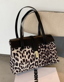 Fashion Leopard Khaki Zebra Print Large-capacity One-shoulder Underarm Bag
