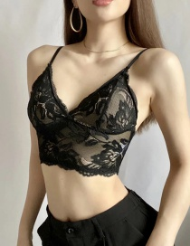 Fashion Black Backless Lace Base Beautiful Back