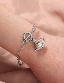 Fashion Silver Color Seagull Natural Freshwater Oyster Pearl Bracelet