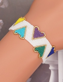 Fashion Color Mixing Love Beaded Rice Bead Woven Bracelet