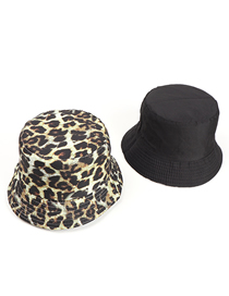 Fashion Light Green Leopard Print Double-sided Fisherman Hat