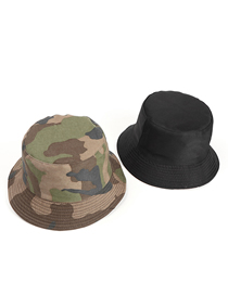 Fashion Army Green Camouflage Camouflage Double-sided Fisherman Hat