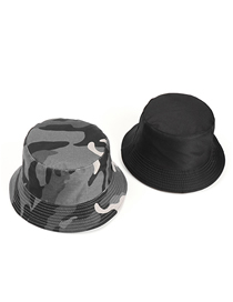 Fashion Grey Camouflage Camouflage Double-sided Fisherman Hat