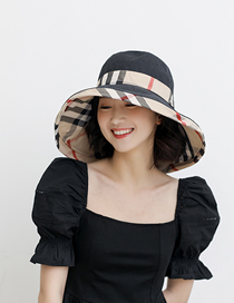 Fashion Black + Rice Babago Color Matching Double-sided Fisherman Hat
