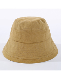 Fashion Khaki Cotton Solid Color Stitching Fisherman Hat