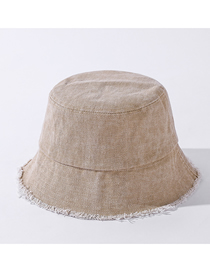 Fashion Khaki Old Edging Washed Denim Fisherman Hat