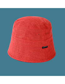 Fashion Orange Cotton And Linen Label Solid Color Fisherman Hat