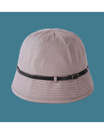 Fashion Beige Gray Pure Color Six-piece Stitching Belt Fisherman Hat